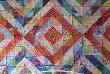 A Quilt - HSQ & QSQ (half & quarter square triangles) / by Kellie Coleman