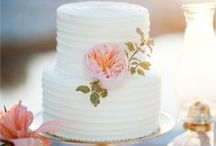 """{Wedding} Cakes  / """"My love has placed her little hand with noble faith in mine,  And vowed that wedlock's sacred band  our nature shall entwine. My love has sworn, with sealing kiss,  with me to live -- to die; I have at last my nameless bliss:  As I love -- loved am I!""""  ― Charlotte Brontë / by Maggie McAllister"""