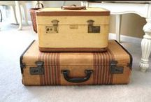 Vintage Suitcases  / by Pam @ House of Hawthornes
