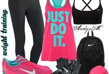 Workout clothes / Looking Fabulous while getting your sweat on. All the gear you need to train like a beast to look like a beauty.  / by Chiquita Sheppard