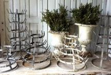 Drying Racks / I love French bottle/pot drying racks. I have one myself. But there are also lots of other drying racks made out of timber branches or cast iron in different shapes and sizes. / by Wendy Marguerite