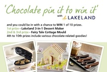 Chocolate Pin It To Win It / HOW TO ENTER 1. Follow us on Pinterest 2. Create a board and name it 'Lakeland Chocolate Competition' 3. Repin at least 3 of the images from our board onto your board, along with a minimum of 7 other chocolate images of your own 4. Repins must use the hashtag #lakelandchoccies 5. Email the URL of your board to pinterest@lakeland.co.uk 6. 10 winning boards will then be selected on 19/03/2013 (T&Cs applicable) / by Lakeland Loves
