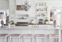 Kitchens-white mostly / mostly white kitchens / by Julie Williams