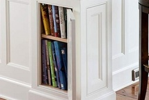 Details-clever cabinet storage + cabinet details / special details, helpful cabinet storage or organization / by Julie Williams