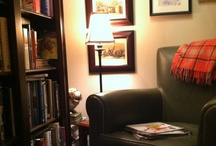 library/home office / by Sandra Sandoval