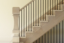 Details-stairs and railings / Stair and railing images that show off details or clever ideas, paint treatments, unique railings etc etc / by Julie Williams