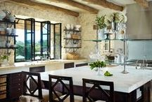 Kitchens-European influence, old world / Kitchens that evoke a particular European influence, French, Spanish, Italian, Belgian, English. Typically old world influences, not contemporary / by Julie Williams