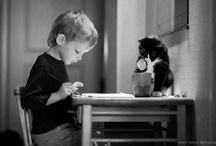 Young at Heart - Kids & Kitties / by Rebecca