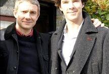 Benedict Cumberbatch/Martin Freeman / by Lana Anderson