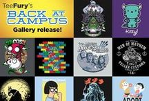 Back At Campus / Hey Smarty Pants! These Back at Campus tees were selected just for your new school year. Shop collection here:  http://www.teefury.com/back-at-campus / by TeeFury