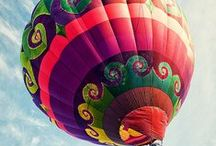 .hot air balloons. / by Jessie