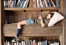 BOOKSHELVES & READING NOOKS / by Kathy Moss