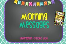 Morning Messages / by Kindergarten Crayons