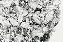 ILUSTRACION/ETC / grafica, acuarela, tinta, collage, grafito, pixeles y gifs / by MariaJose Echeverría