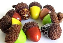Holidays - Decorated Fall Acorns / by Chris Williams