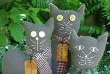 PRIMITIVE CATS  / Primitive folkart cats and patterns  / by Karen Danner