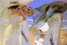 Sorolla y Bastida, Joaquin artist / The Spanish Impressionist who understood light, color, movement, energy and brushwork / by Leisa Shannon Corbett Art Studio
