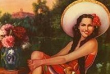 vintage xicana / old mexican postcards and calendar girls I have collected (online)over the years  / by La Xicajo