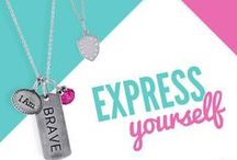 Tagged™ Collection / Our Tagged Collection is about bold expressions, browse through these images to get an idea of how you can customize jewelry to express yourself. #customjewelry #taggedcollection / by Origami Owl