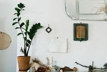 Vintage Naturalism / White, wood, brass, plants, and vintage styling... / by Laura Pike-Seeley