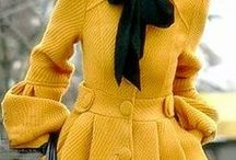 Yellow becomes staple color for closet / Yellow has come along way from paint on the kitchen wall or wear it only in spring like rules of white shoes, molds have been broken. The color has so many sumptuous, intense, & mainstream hues that it has become a starting player in my wardrobe selection. It works on many levels, cuts the seriousness of some serious silhouettes. Lightens your mood w/out trying. The #Ochre, #mustard & pale yellows of #Erdems latest Spring collection, breath taking. #Prada's #floral #dresses in #Shopgirl / by Jane Donnelly