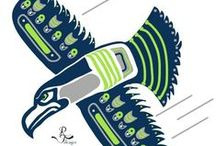 12s Seahawks and L.O.B. / Dedicated to my home team.  / by Larissa Betty