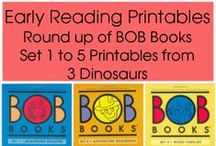 Easy Reader Printables & Activities / Easy Reader Printables and activities for kids learning to read. Ideas to use the printables and early early reader printables. / by Cassie Osborne (3Dinosaurs.com)