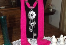 ♥♥JEWELLERY SCARVES♥♥ / THIS SHOWS THE NEW RAGE OF SCARF WITH JEWELLERY  / by Patricia St. T. Lees