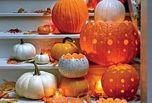 Halloweeen Ideas / Halloween and pumpkin ideas for the home. Crafty halloween ideas for children, pumpkin carving and home decor inspiration. / by Feather & Black