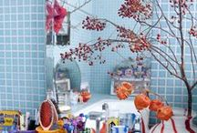 Bath / Bath decor bathroom rugs bathtubs shower heads shower curtains organization storage towels bath mats  / by Sherri Caudell