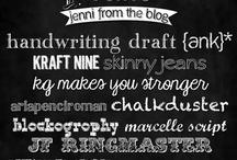 Fonts + Typography / by Laurel Zacher