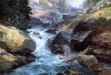 Art: Streams, Waterfalls and Waterways / by Lisa Swank