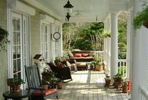 Come Sit On My Porch / I LOVE FRIENDLY, OLD-FASHIONED FRONT PORCHES, BACK PORCHES & SUN PORCHES THAT JUST INVITE YOU TO SIT A SPELL & READ, CHAT OR SIMPLY DREAM - SO COME SIT A SPELL WITH ME. / by Glenda Roslund