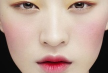 Faced. / Faces, makeup, beauty, hair, lips, eyes, cheeks, nose, brows / by Hanna Winestone