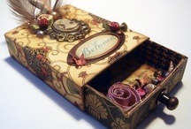"""Altered matchboxes / I love these boxes, they remind me of """"The Borrowers"""" and good things come in small packages! / by Jan Reichard"""