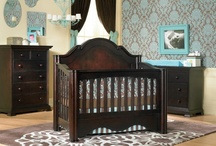 Enchanted / Enchanted is a very charming collection made of Russian Pine. The headboard is a solid piece with intricate scroll curves and carvings with 4.5' molding. The Camelot crib, on the other hand, offers a beautiful, straight panel back with 4.5' molding as well. Both cribs also feature large four-leaf clover design on all posts. The headboard reverses to allow a full-sized bed free of hardware and holes in the upper portion; no one will ever know it was once a crib.  / by Baby's Dream Furniture