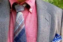 Dress Code / Dress Like You Give A Damn, guys fashion, style, ties, pocket squares, shoes, sports jackets, suits, brogues, wingtips, oxford, denim / by Mike Long
