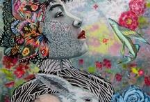 Zen and the Art of Motorcycle Maintenance / ~ Illustration ~ Surrealist Art ~ Drawing ~ Outsider Art  ~ / by Marina della Chiara