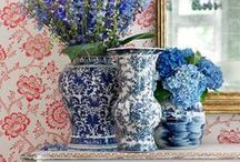 blue and white jars / by Taylor Greenwalt Interiors