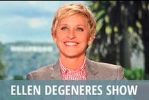 Ellen DeGeneres Show / Standup comedian and actress Ellen DeGeneres has been delighting audiences for over a decade as host of the lively and hilarious daytime TV talk show The Ellen DeGeneres Show. She loves to dance, and she loves to make you laugh with popular segments like Clumsy Thumbsy, What's Wrong with These Photos?, and hidden camera pranks featuring her unsuspecting celebrity guests and harried staff. She also offers heartwarming giveaways to deserving real life people that will make you smile every time. / by RECAPO
