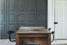 grey // interiors // exteriors / grey or gray / by greige design