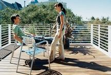 Outdoor Spaces / Dreaming of long days, pool-side weekends and Summer Fridays?  We are! So we teamed up with Sabine Rothman, Hearst Design Group Market Director (think Elle Decor, House Beautiful, and Veranda) to bring you a mix of outdoor spaces that inspire us to kick back and relax (and redecorate our patios, lawns and balconies).   / by Knoll Design