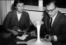 Eero Saarinen / Born to world famous parents, Eero Saarinen was surrounded by design his whole life. A schoolmate and great friend of Florence Schust, it was an obvious choice for her to invite Eero to design for Knoll when she joined the company in the 1940s. His impact on Knoll and the discipline of furniture design would be hard to overstate.   Learn more about the Eero Saarinen at Knoll.com.  / by Knoll Design