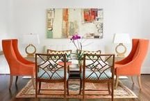COLOR: Orange Home Decor / Orange Home Decor Ideas and Inspiration  Using orange in your home decor is a bold move, but it can be very rewarding. Orange combines the energy of red and the happiness of yellow. Many associate orange with joy and sunshine.  / by Home Decor Inspiration by Carpet One
