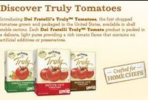 NEW Truly™ Tomatoes!  / Introducing NEW Dei Fratelli Truly™ Tomatoes, the first chopped tomatoes grown and packaged in the United States, available in shelf stable cartons. Each Dei Fratelli Truly™ Tomato product is packed in a delicate, light puree providing a rich tomato flavor that contains no artificial additives or preservatives. / by Dei Fratelli