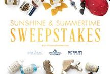 Sunshine & Summertime Sweepstakes / Celebrate summer! Enter to win a fabulous assortment of specialty foods, tote bags, footwear, jewelry, accessories and more. http://seabags.me/W0JfYd / by Sea Bags
