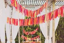 party // hanging decor / garland, bunting, banners, balloons / by Lindsey Cheney