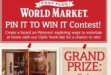 World Market's PIN IT TO WIN IT Contest / by Karen Harris