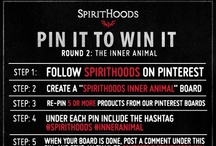 "♘ SpiritHoods Round 2: The Inner Animal ♘ (Expired Jan. 11, 2013) / ☆ ✩ Get creative!  Make boards that represent YOUR INNER ANIMAL in relation to SpiritHoods, then post your comment with a link under the Pin It To Win It ""pin"" on this page!  www.SpiritHoods.com ✩ ☆ / by SpiritHoods (The Original)"