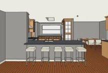 Kitchen Design Concepts... / Custom kitchen designs, kitchen islands, custom kitchen cabinets,  / by EditWithStyle .